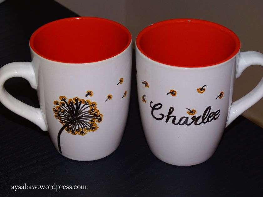 DIY Sharpie Mugs - Couples Mugs