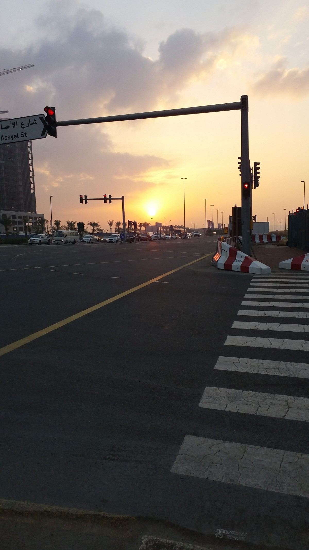 Sunrise and Traffic Lights