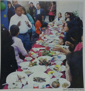 VP Binay with the distressed Filipinas sheltered in the Philippine Embassy