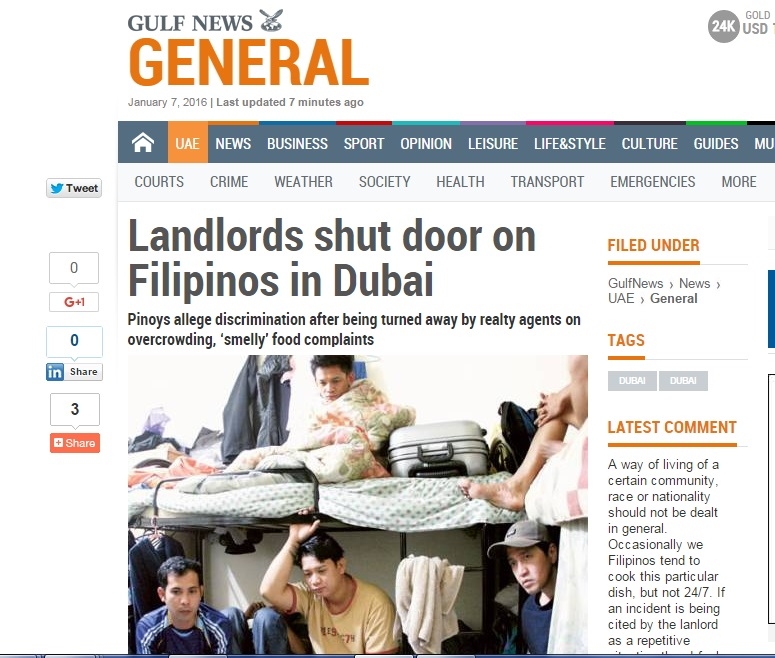 Landlords shut door on Filipinos in Dubai