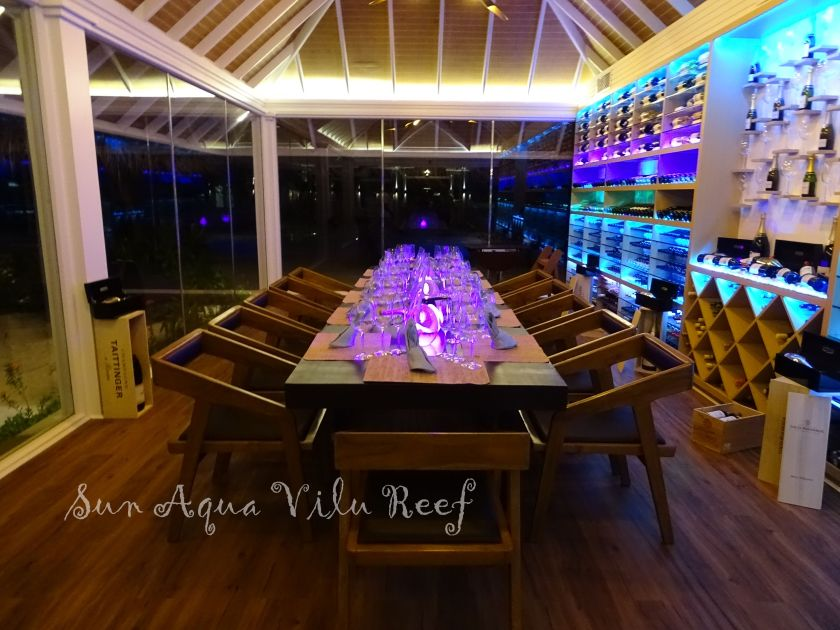 Sun Aqua Vilu Reef wine-cellar